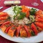 Rolled kebab with garlic