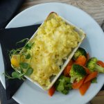 Home made fish pie, the amount of fresh fish in this was amazing