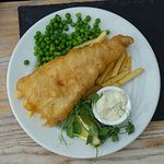 A childs portion of fresh fish and chips