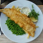 An adult fish and chips