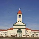 Foto de la capilla histórica de la ex Misión Salesiana, de 1898. Monumento Histórico Nacional.