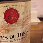 Excellent wine list including this stunning French Côtes du Rhône Red