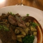 Lamb Cutlets with pulled lamb Lentil Ragout and Broccolini