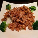 Kung Pao Chicken. Could have used some more vegetables, but the sauce and chicken were very good