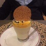 Mousse légère au chocolat blanc et mangue