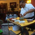 Fresh guacamole made tableside