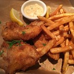 Delicious fish and chips.