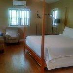 Cabin #16 bedroom/living area.
