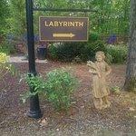 Labyrinth walkway entrance.
