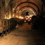 Blick in die Gewölbe des früheren Weinkellers