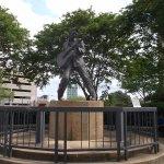 Elvis statue.