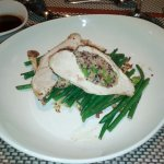 Supreme of Chicken with Quinoa stuffing for main course