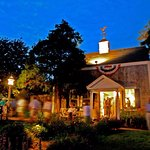 A night shot of the beautiful and historic, Monomoy Theatre