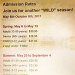 Admission Rates for 2017