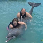 Hugging a Dolphin!
