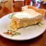 Coconut pie. Rich, dense, and delicious.