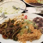 Steak dishes were excellent including the rice and beans.