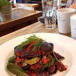 Superb presentation and delicately flavoured salad :-)