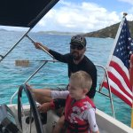 Our son Logan learning a thing or two from Captain Justin