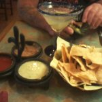 House drink with chips and salsa