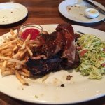 Ribs, fries and slaw