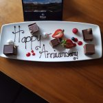Wedding anniversary gift which was waiting in our upgraded room.
