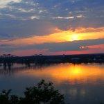 Sunset over the Mississippi River at Buff Park, Natchez.