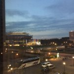 View from the room towards parking and Amsterdam Arena