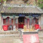 Temple nestled beneath 5 Buddha Peak