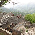 Temple courtyard near 5 Buddha Peak cableway