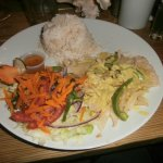 Food at Bambooze, Caye Caulker