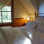 The bedroom loft in the Barn