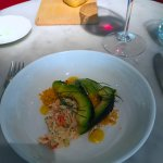 Charred Avocado with King Crab salad