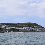 View of New Quay on boat trip