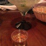 My Cinco de Mayo margarita and tequila shot