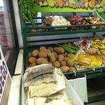 Fried area, snapper, fruit area
