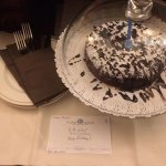 Birthday cake as a gift from the hotel!