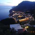 the village of Positano lying below