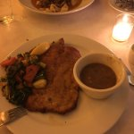 Wiener Schnitzel. Nicely done, very tender, flavorful and the sauce was a great complement.