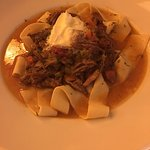 Oxtail Ragout. Comfort Dish with a light broth sauce, noodles can be eaten by itself.