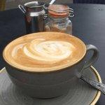 Great cappuccino & croque monsieur