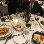 My Marlussa de la vasca (on the right) was perfectly prepared with tender filets, peas, mussels