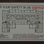 Hotel room layout (fire escape plan)