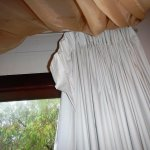 Curtains hanging down