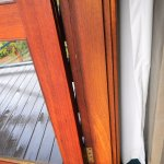 Damage to balcony door, unable to shut properly