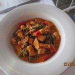 Tricolor chicken pasta