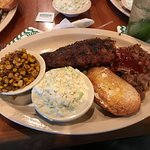 BBQ Baby Back Ribs, Brisket Dinner with Slaw, Corn and TX Toast