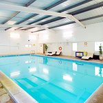 The indoor pool  is open from 7.45 each morning