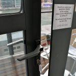 Broken balcony door snib/lock