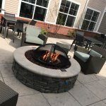 Fire pit is the perfect place to unwind after a long day.